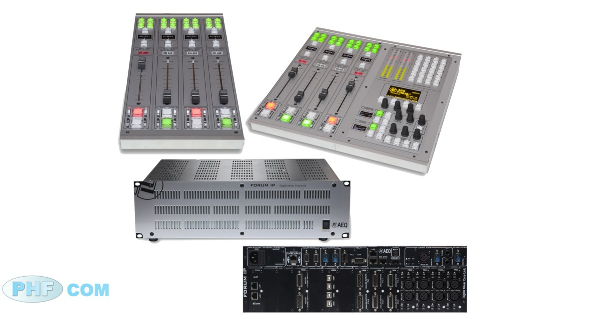Elements de la console FORUM SPLIT AEQ